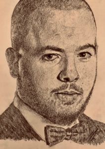 Luca Brecel Pencil Drawing A5 £100 7/9 see Projects Page, World Snooker Championship 2019