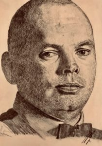 Stuart Bingham Pencil Drawing A5 £100 6/9 see Projects Page World Snooker Championship 2019