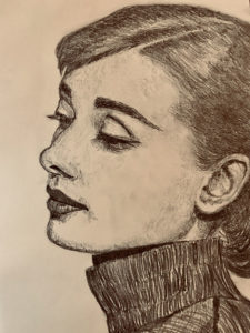 Audrey Hepburn Pencil Drawing A5 £80
