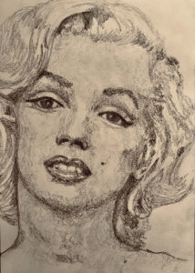 Marilyn Monroe Pencil Drawing A5 £100