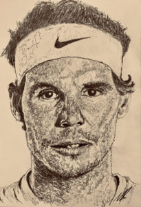 Rafael Nadal Pencil Drawing A5 £40