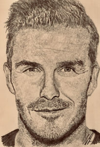 David Beckham Pencil Drawing A5 £40