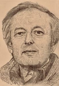 Andre Previn Pencil Drawing A5 SOLD