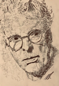 WB Yeats Pencil Sketch A5 £25