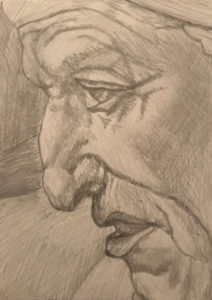 Detail of the Cumaean Sibyl from the Sistine Chapel Pencil Drawing A5 £25