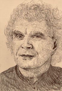 Simon Rattle Pencil Drawing A5 £60