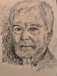Derek Jacobi Pencil Sketch A5 £40