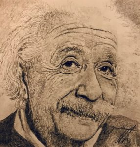 Albert Einstein Pencil Drawing £100 19x19cm