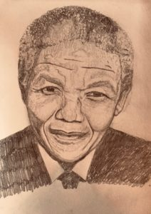 Nelson Mandela Pencil Drawing A4 £50
