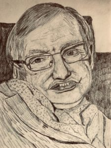 Stephen Hawking A5 Pencil Drawing £50