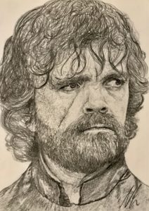 Tyrion Lannister Pencil Drawing A5 £40