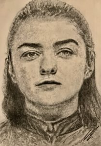 Arya Stark Pencil Drawing A5 £40