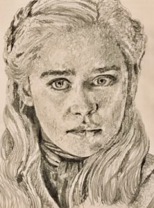 Daenerys Targaryen Pencil Drawing A5 £40