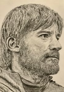 Jaime Lannister Pencil Drawing A5 £40