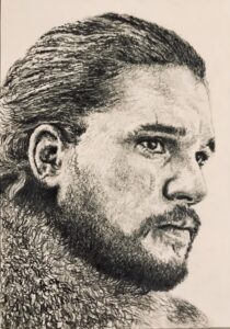 Jon Snow Pencil Drawing A5 £40